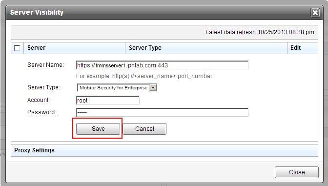 Server Visibility