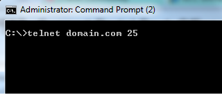 Telnet to the managed domain