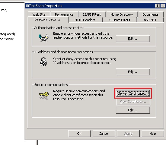officescan directory security