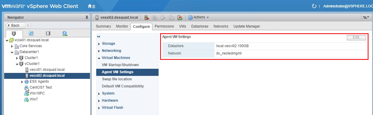 Check the Agent VM settings
