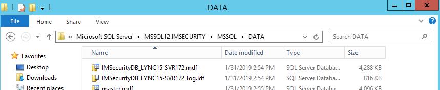 Local Database location