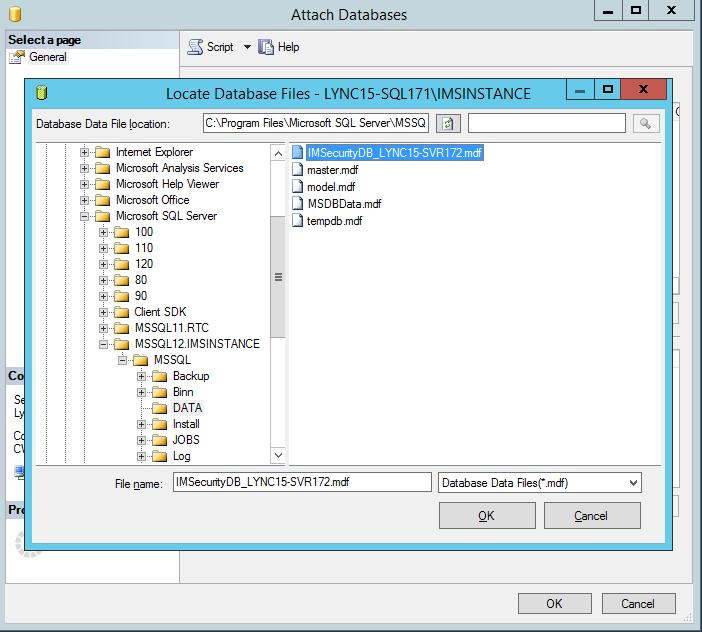 Locate Database Files
