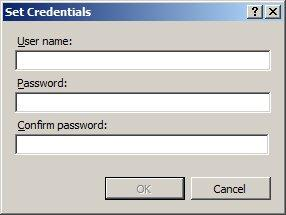 Type the username and password