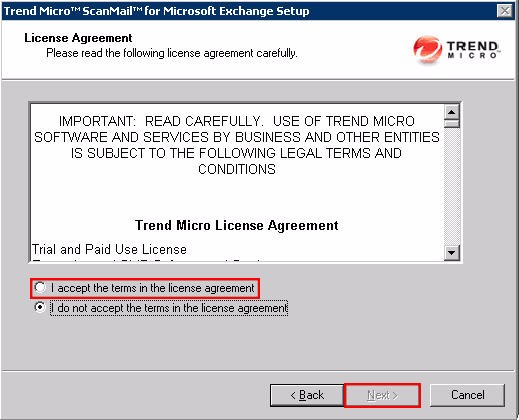 Uninstall SMEX License Agreement