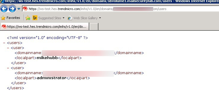 Account in XML format