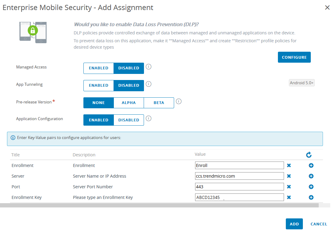Enroll TMMS in AirWatch