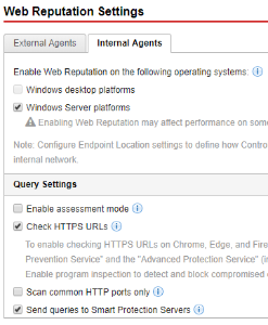OSCE DCN - Web Reputation Services
