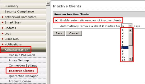Enable automatic removal of inactive clients in OfficeScan 10.x