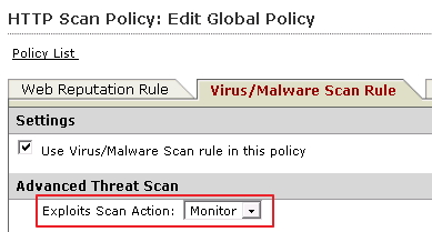 "Set action to ""Monitor"""