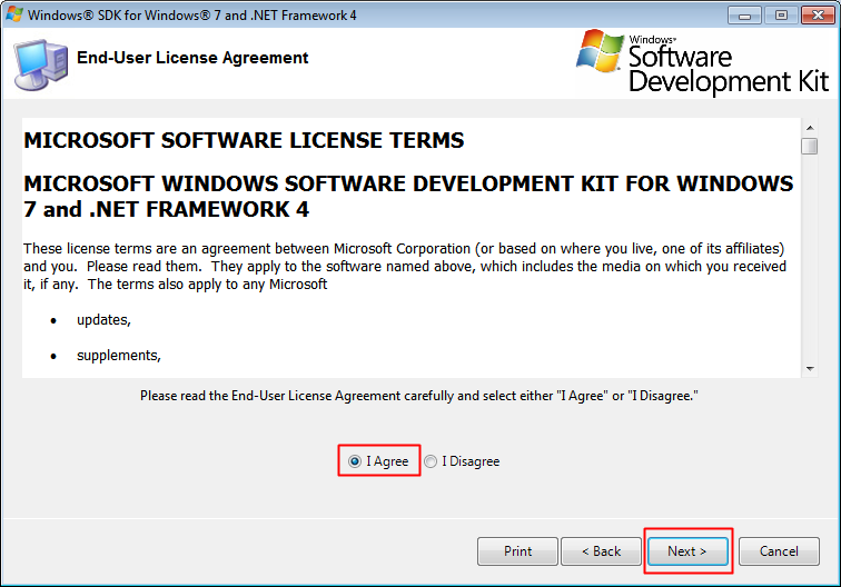 Read and accept the End-User License Agreement