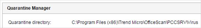 Quarantined Folder - Virus Scan