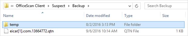 Quarantined Folder - Virus Scan 2
