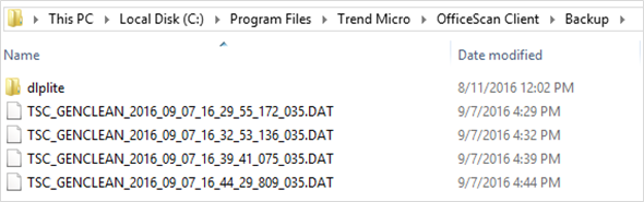 Quarantined Folder - Behavior Monitoring