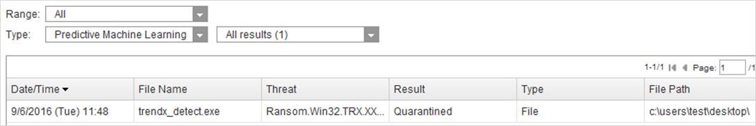 Detection Name Type - PML File