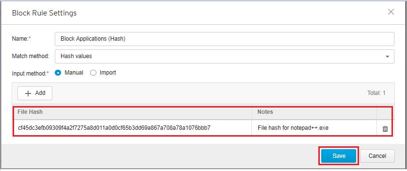File Hash List