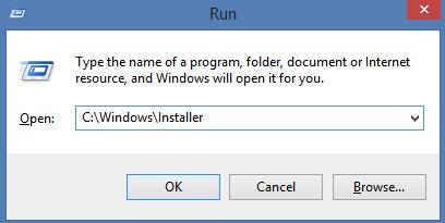 Access the Windows Installer folder