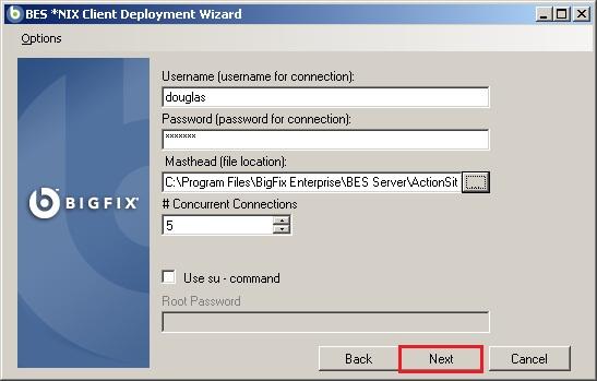 Enter NIX credentials