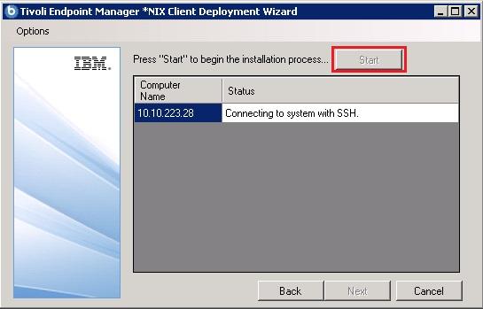 Start BES Client deployment