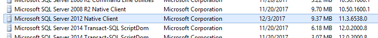 Microsoft SQL Server 2012 Native Client