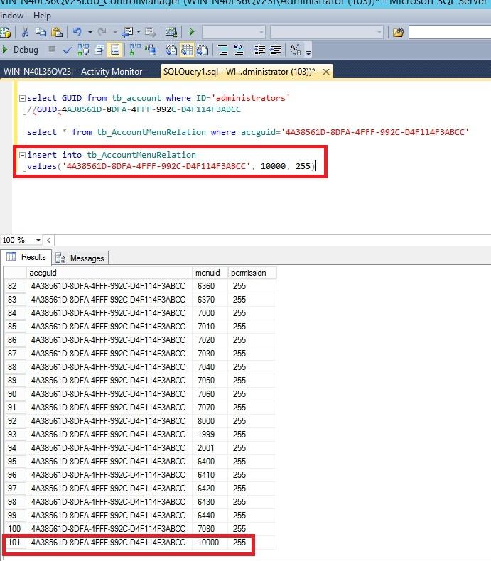 TMCM-SQL-results