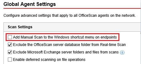 Add manual scan to shortcut menu