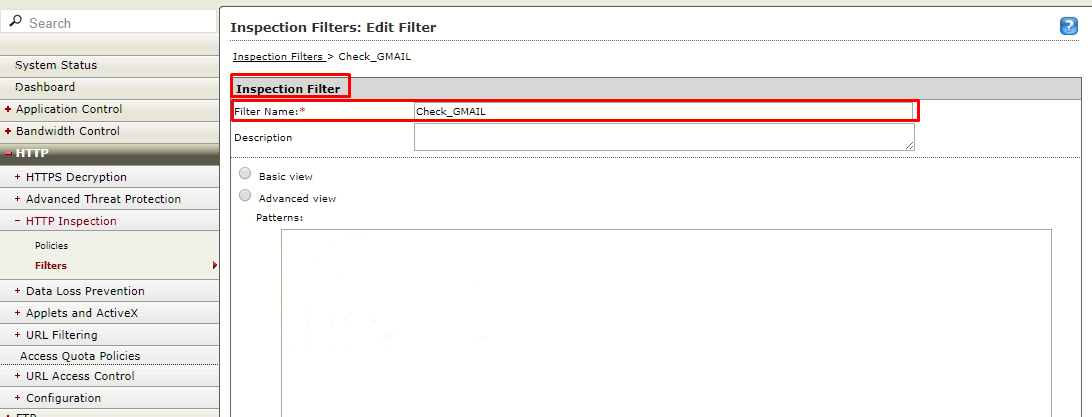 Create filter name