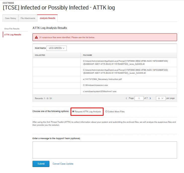 Request ATTK Log Analysis