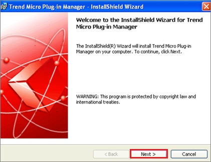 Plug-in manager installation wizard