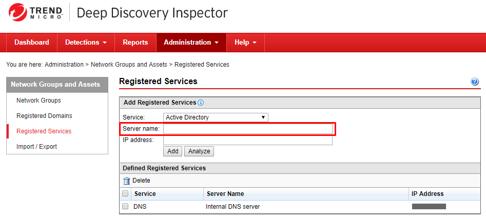 Specify a Server Name