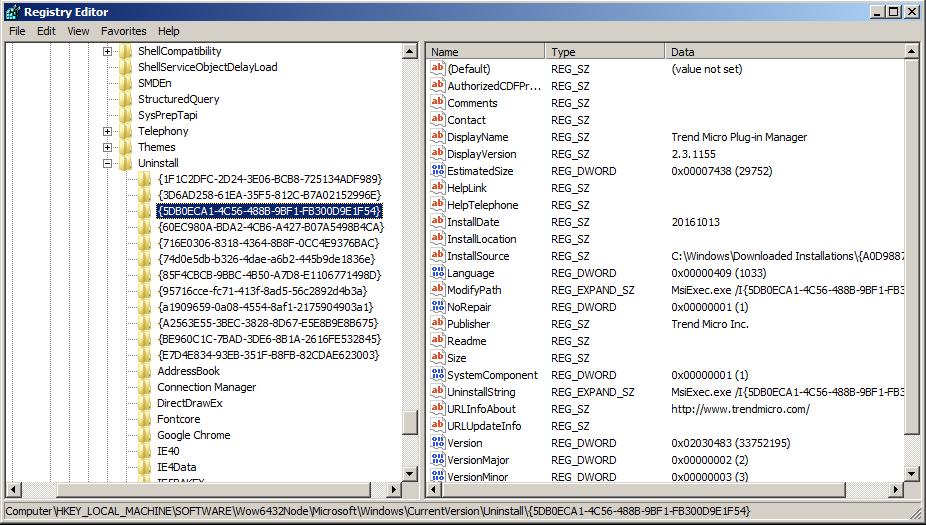 Registry Editor 1
