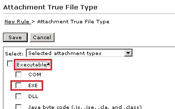 Select Executable as True file type