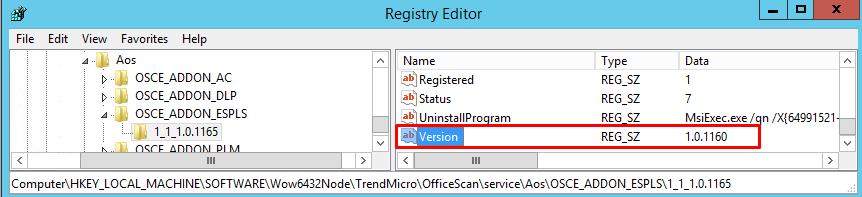 Modify registry value