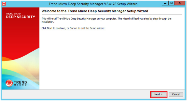 Install Deep Security Manager