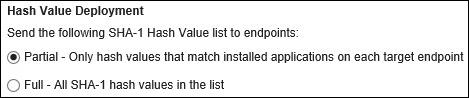 Hash Value Deployment