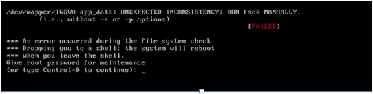 Type root account password