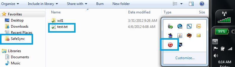 SafeSync folder