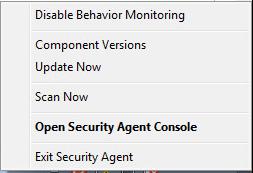 Click Exit Security Agent