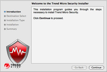 Security installer introduction page