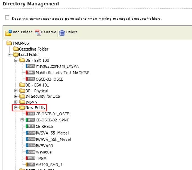 Choose product to add in managed server list