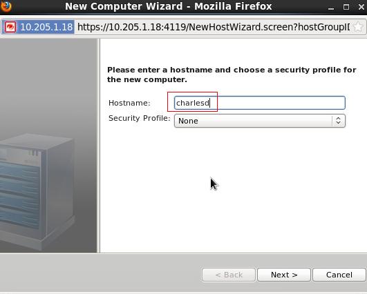 New Computer Wizard - Hostname