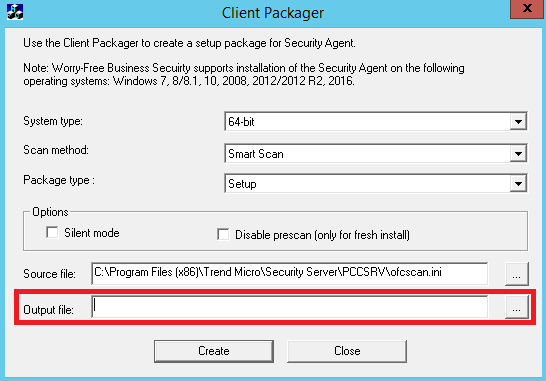 Client Packager GUI