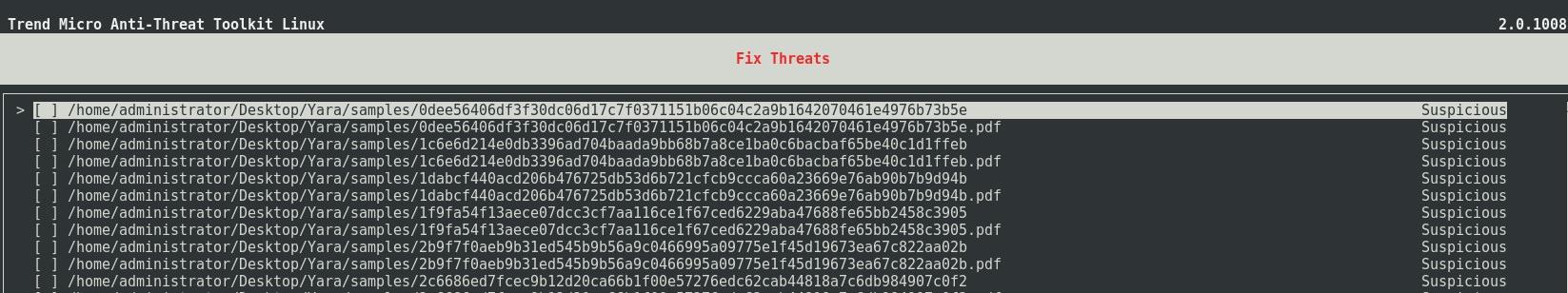 YARA in ATTK for Linux