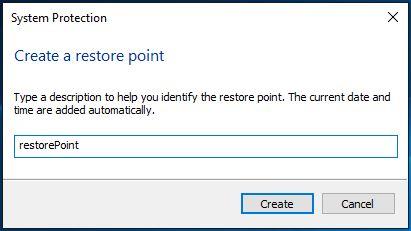 Set restore point