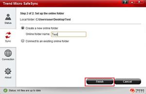 Set up online folder