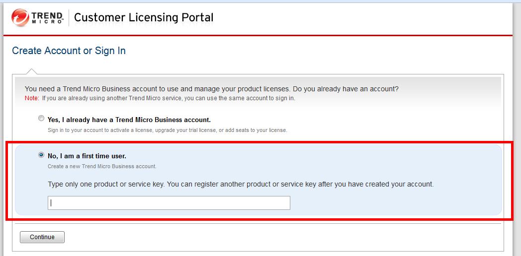 Enter your Registration Key or Activation Key.