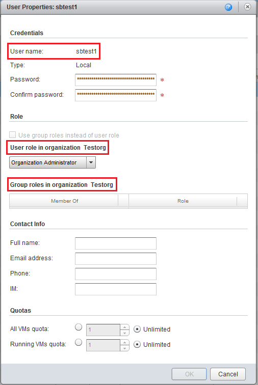 Checking credential format to add vCloud account