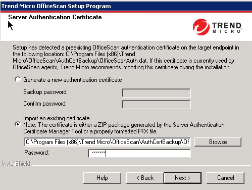 Server Authentication Certificate
