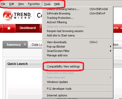 Compatibility View Settings