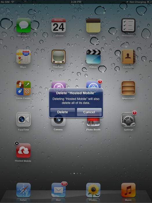 Delete HMS app