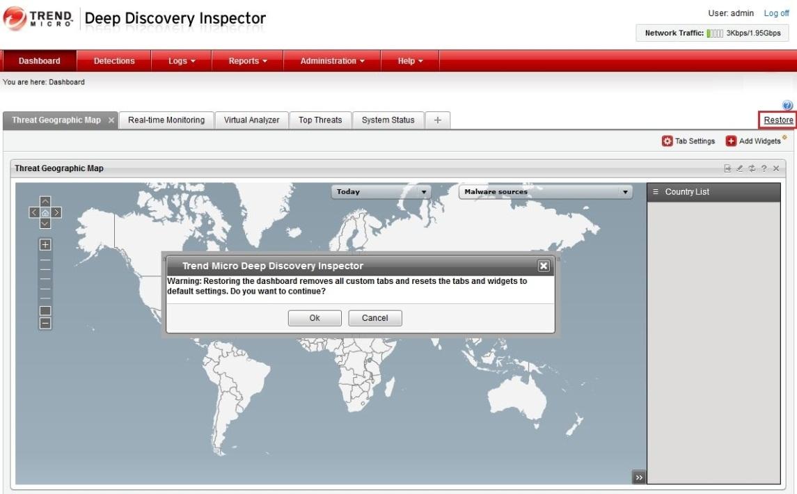 DDI webui restore